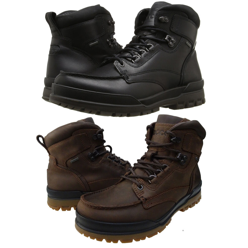 f5248b738691 Ecco Mens Track 6 Gore-Tex Moc-Toe Lace Up Hiking Trail Waterproof Shoes  Boots