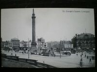 POSTCARD - RP LIVERPOOL ST GEORGE SQUARE SHOWING TRAMS ETC