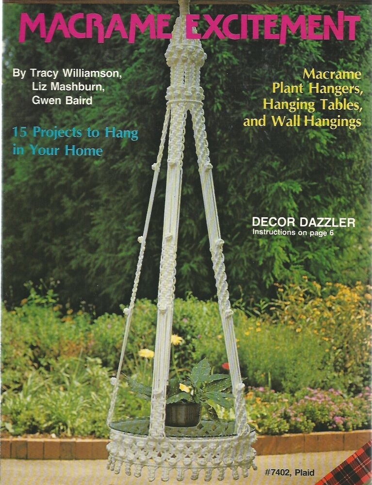macrame plant hanger pattern books macrame excitement wall hanging tables plant hangers 2347