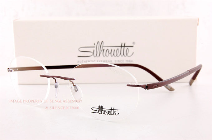 eb0d1e605f New Silhouette Eyeglass Frames FUSION 5477 6059 Satined Brown 5479 Unisex  SZ 49 888465157114