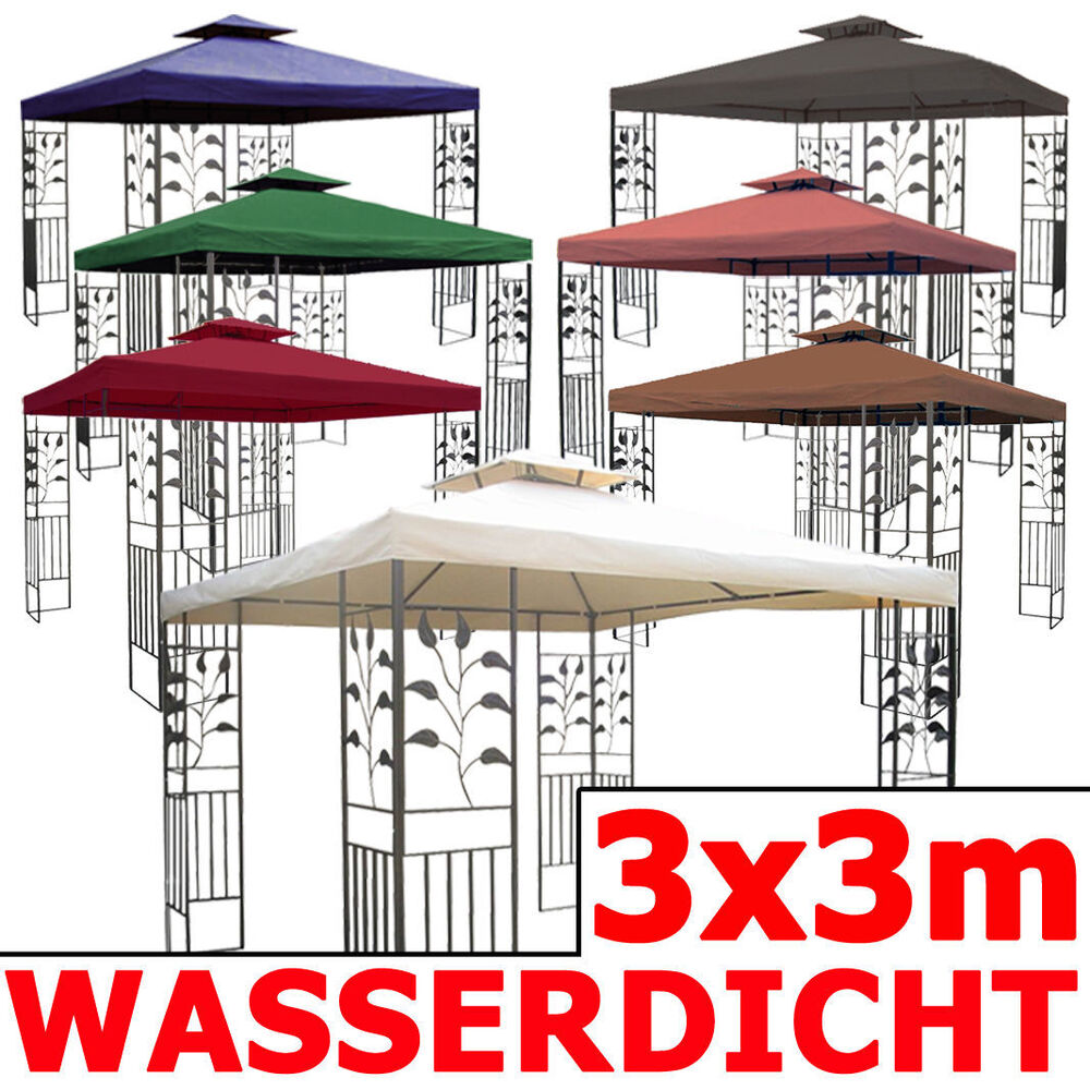 wasserdicht pavillon toskana 3x3m wasserfest metall. Black Bedroom Furniture Sets. Home Design Ideas