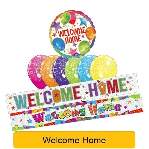 welcome home range of party balloons banners