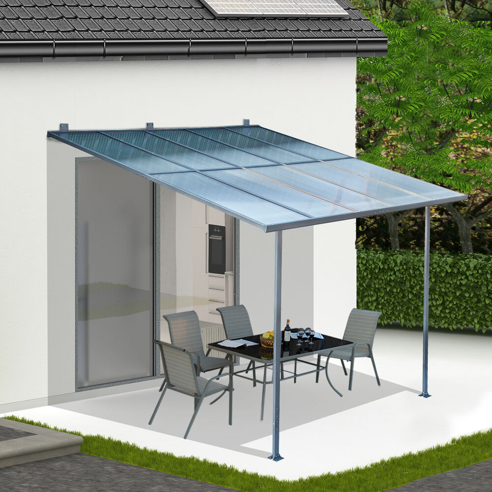 3 X 3m Wall Mounted Canopy Outdoor Awning Aluminuim Sun