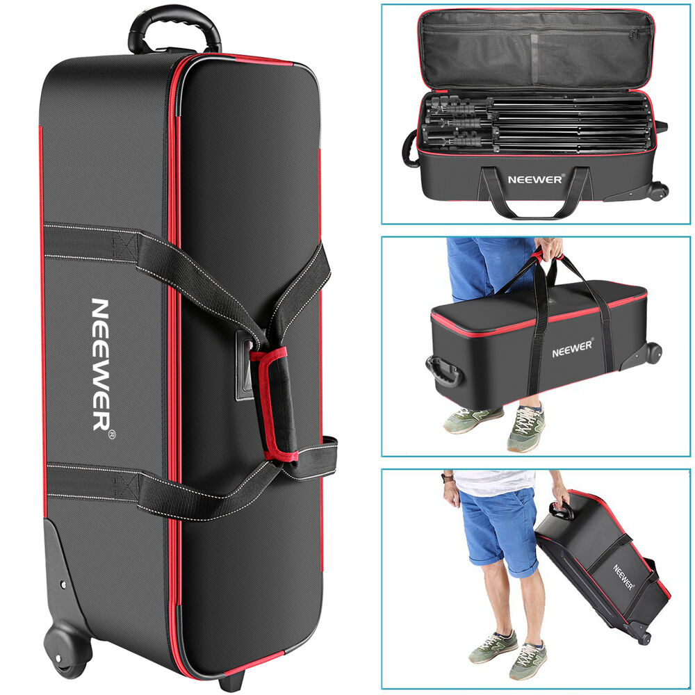 bag light stand trolley equipment carry neewer studio tripod camera cases amazon case padded accessories backpack rolling x11 bags compartment