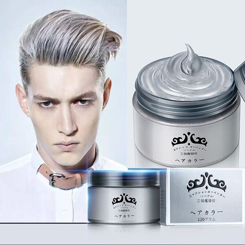 Men Women Professional Silver Grey Hair Wax Hair Pomades