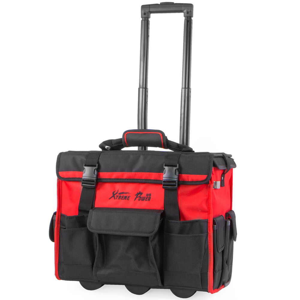 Xtremepowerus 18 rolling portable hd portable tool bag for Small garden tool carrier