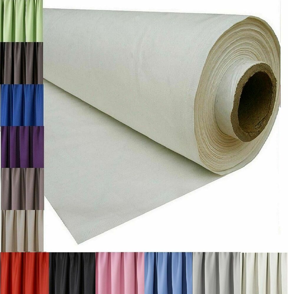 3 Pass Blackout Thermal Curtain Lining Fabric Material 12 Colours Sold Per Metre Ebay