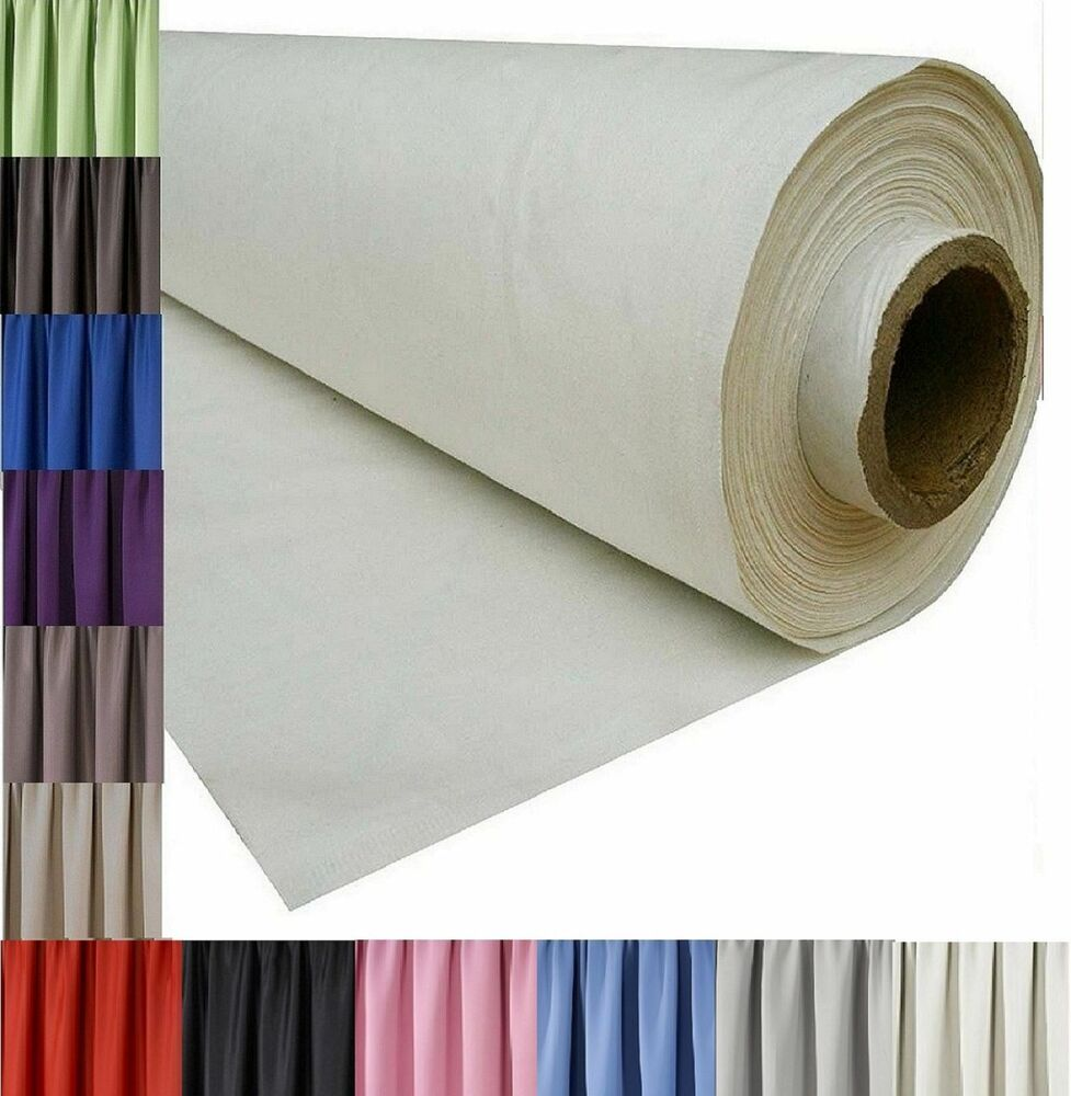 Blackout Fabric For Curtain: 3 PASS BLACKOUT THERMAL CURTAIN LINING FABRIC MATERIAL 12