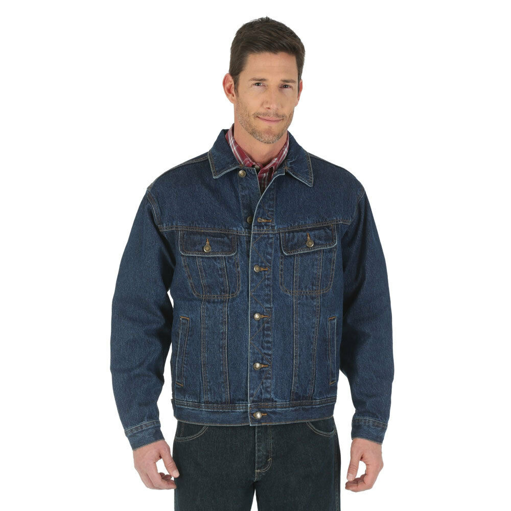 Rjk30an Wrangler Men S Rugged Wear Denim Jacket Antique