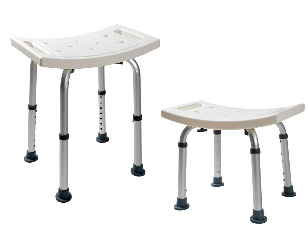 New 7 Height Adjustable Medical Shower Bench Bathtub Bath Chair Seat Stool White Ebay