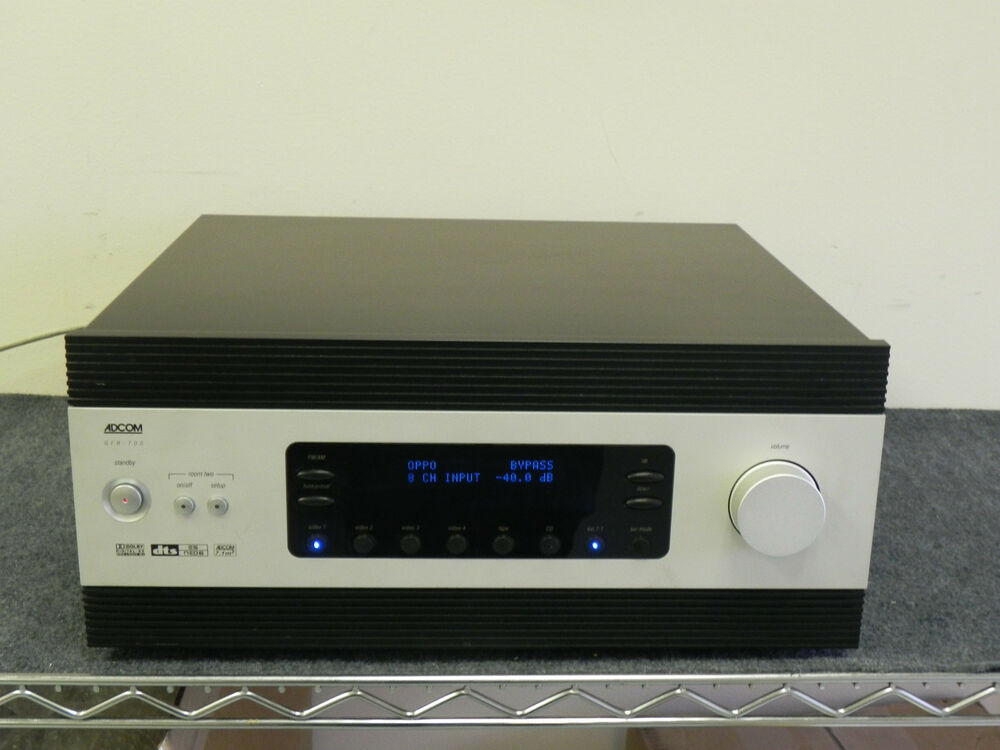 adcom gfr 700 7 1 channel 500 watt receiver 875409000582 ebay. Black Bedroom Furniture Sets. Home Design Ideas