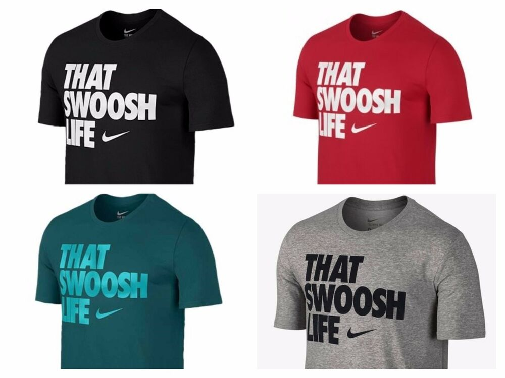 Nike t shirt that swoosh life athletic cut tee men 39 s small for Mens athletic cut shirts