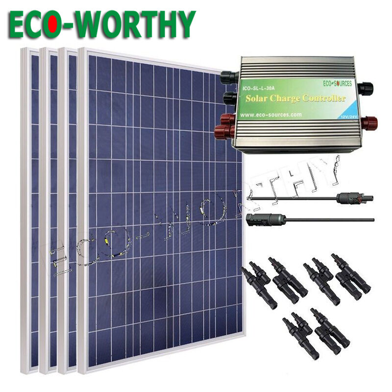 400w Solar Kit 4pcs 100w Solar Panel For 12v Off Grid