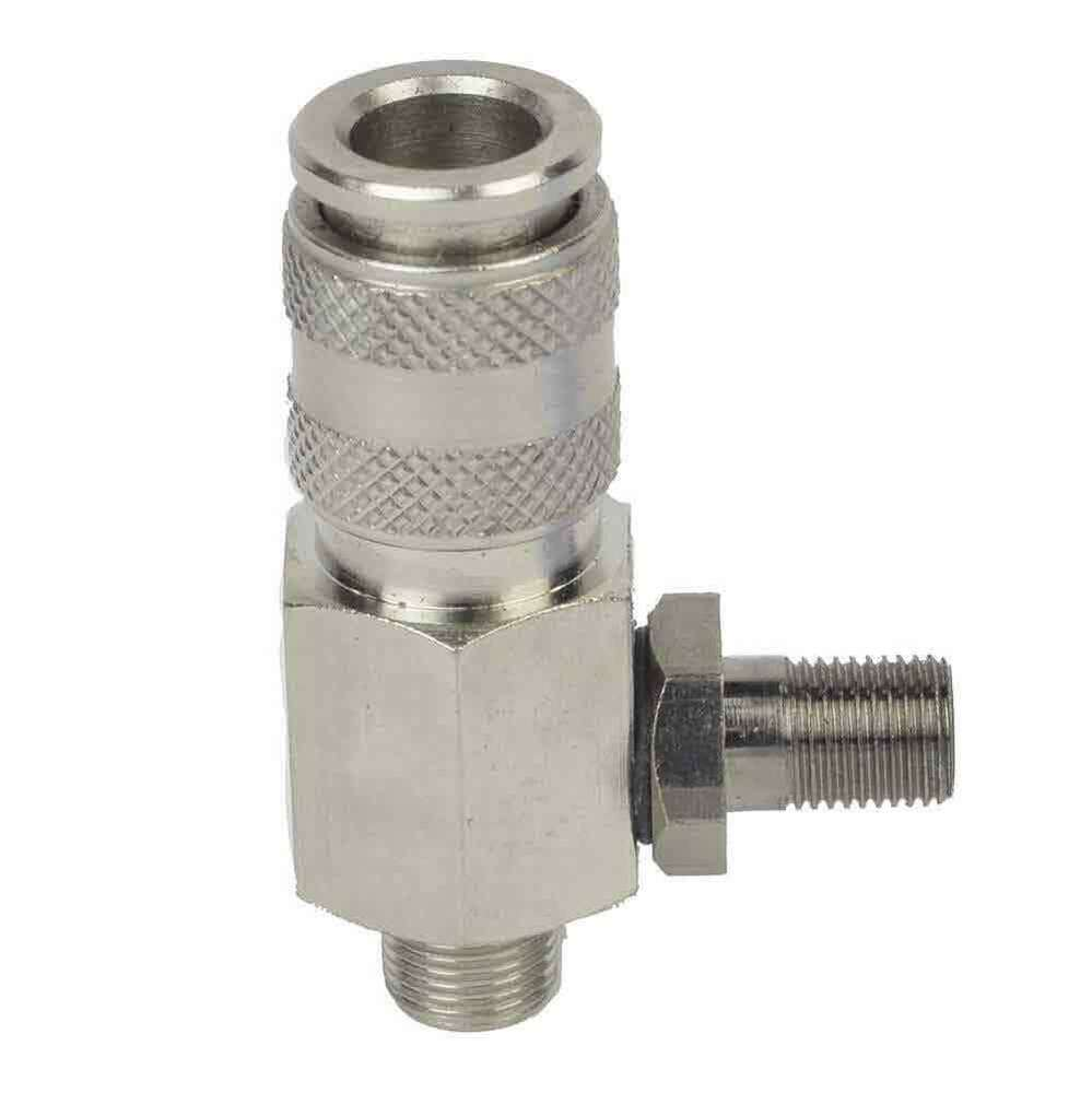 Mini coupler small male threads with schrader tire