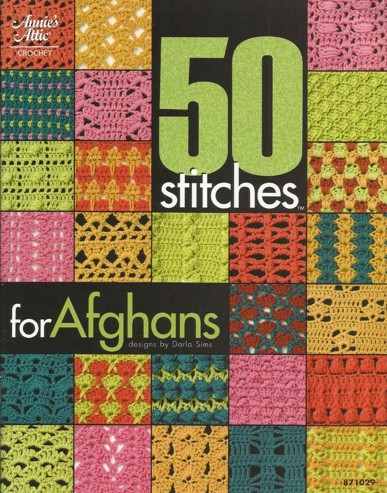 50 stitches for afghans crochet instruction pattern book