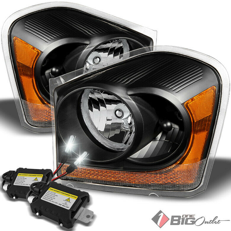 Details About For 04 05 Durango Black Housing Headlights Embly 6000k Xenon Hid Kit Combo