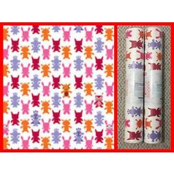 WALL CANDY ARTS French Bull Monster Magenta Removable Wallpaper 1/2 Kit $148 NWT