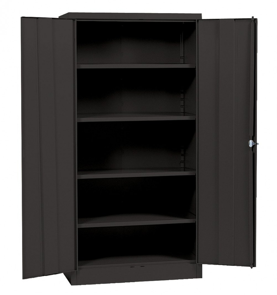 Metal Black Kitchen Cabinets: Metal Storage Cabinet With Steel Locking Doors Lock Garage