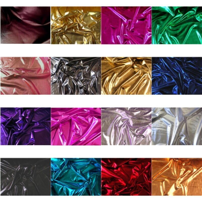 16 colors costume 4 way stretch lame metallic spandex for Lycra fabric