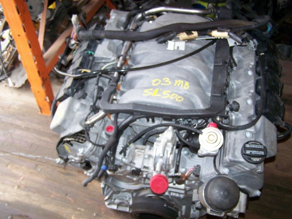 2003 2004 mercedes sl500 18kmi 5 0 v8 engine motor oem. Black Bedroom Furniture Sets. Home Design Ideas