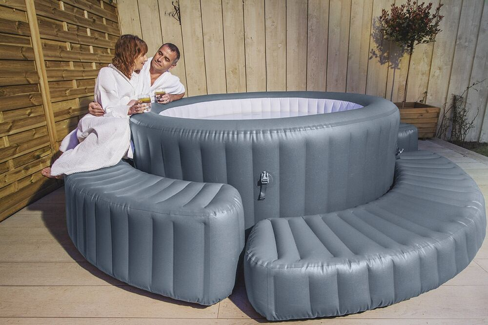 bestway lay z spa inflatable surround or step bench hot. Black Bedroom Furniture Sets. Home Design Ideas
