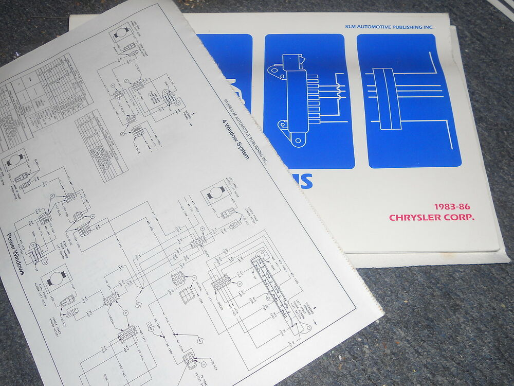 1985 1986 Dodge Daytona Chrysler Laser Wiring Diagrams