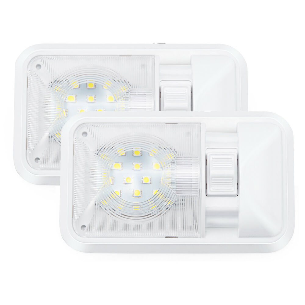 2x New Kohree 12v Rv Interior Led Ceiling Light Boat Camper Trailer Single Dome Ebay