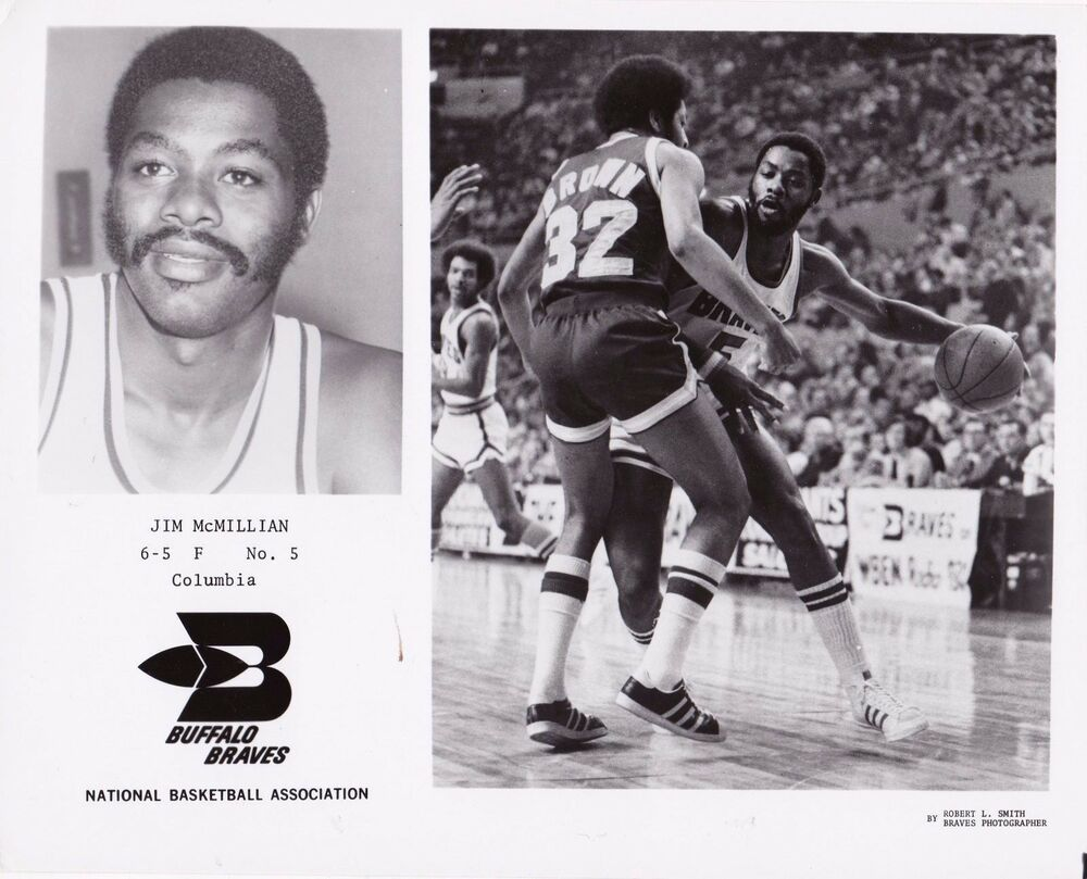 Vintage Jim McMillian Buffalo Braves Team Issued 8x10 Basketball
