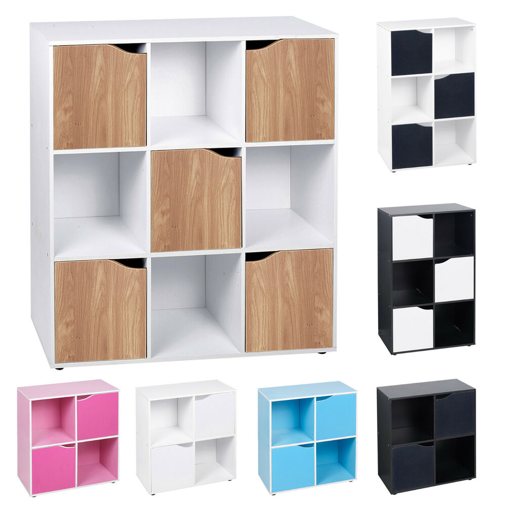 storage cube shelf 4 6 9 cube wooden bookcase shelving display shelves 26869
