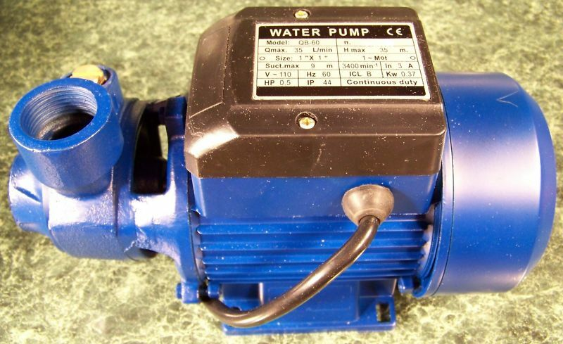 1 2 Hp Electric Centrifugal Water Pump Brand New All Metal Construction 110 Sump Ebay