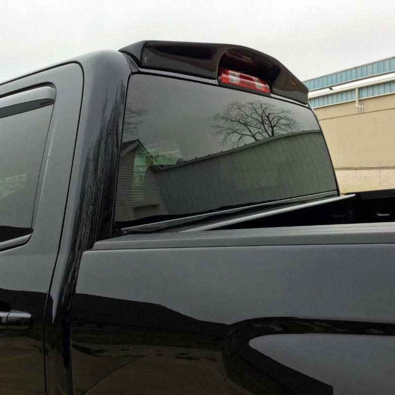 TRUCK CAB Spoiler PAINTED NO DRILL INSTALL For: CHEVY