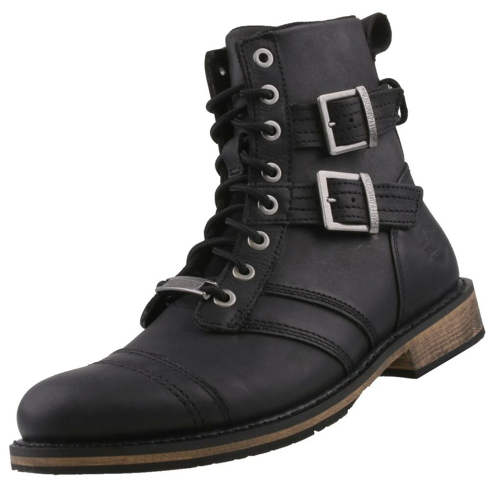 neu harley davidson herrenschuhe schuhe herren stiefel lederstiefel leder boots ebay. Black Bedroom Furniture Sets. Home Design Ideas