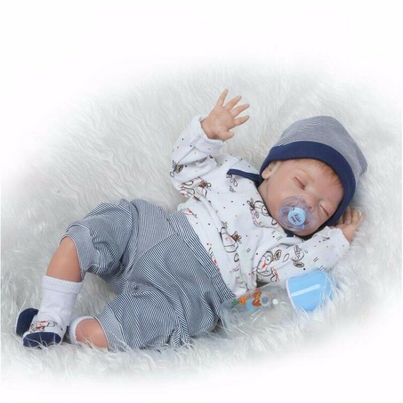 22 Quot Soft Body Silicone Reborn Sleeping Doll Soft Vinyl