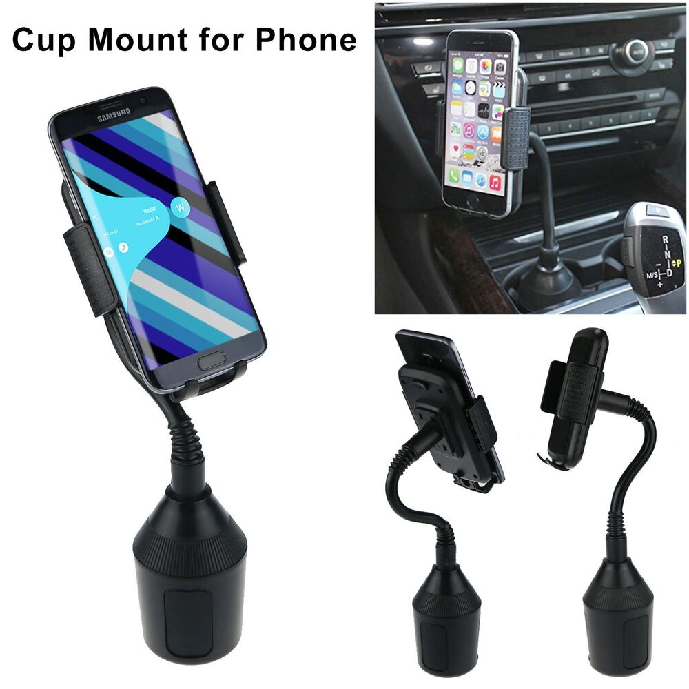 Universal Car Mount Adjustable Gooseneck Cup Holder Mount Cradle For Cell Phone | eBay