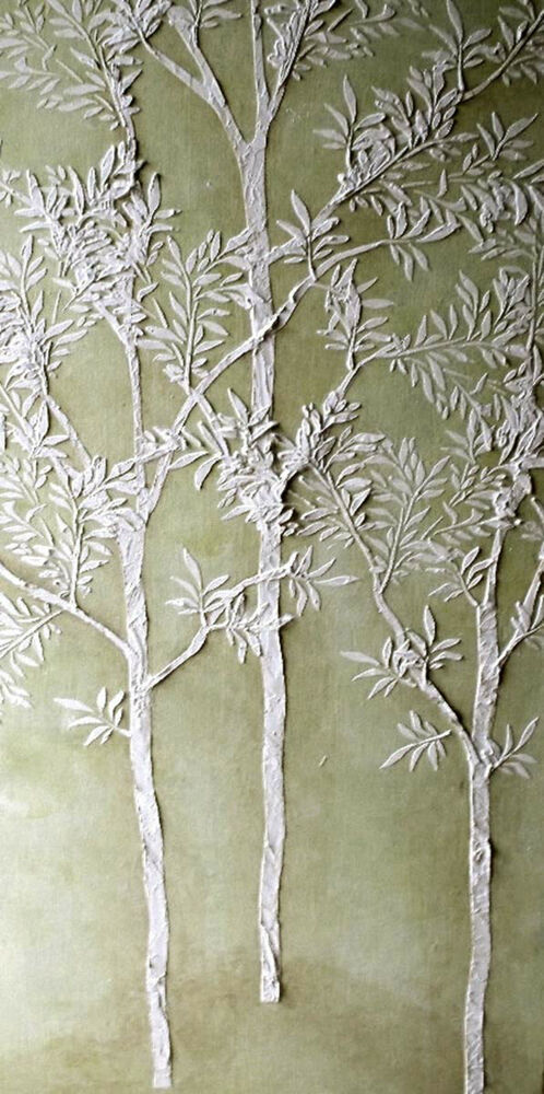 Stencil plaster stencil large sapling tree wall stencil for Large tree template for wall