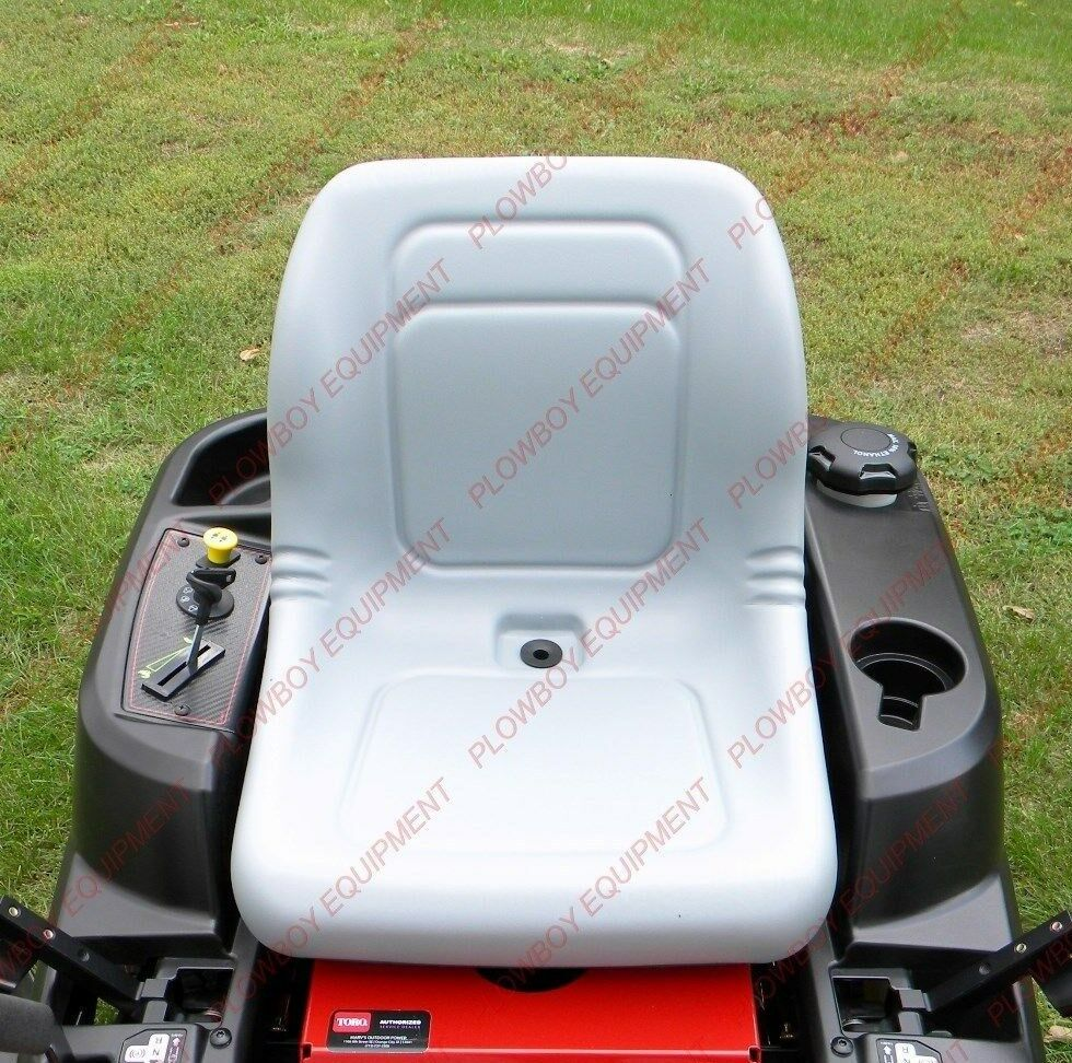 Lawn Tractor Seat Cushions : Lawn garden mower seat gray for woods zero turn