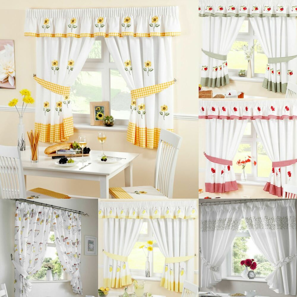 Curtain Designs For Kitchen Windows: Kitchen Curtains, Ready Made Curtain Panels, Many Designs