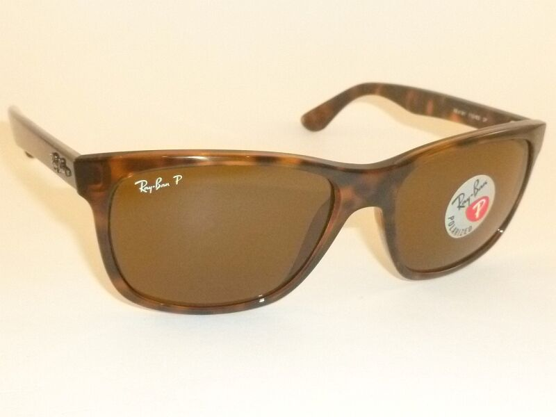 b52638c90d Details about New RAY BAN Sunglasses Tortoise Frame RB 4181 710 83 Polarized  Brown Lenses