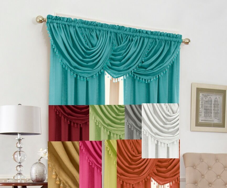 Luxury Waterfall Decorative Beads Trim Window Valance Only