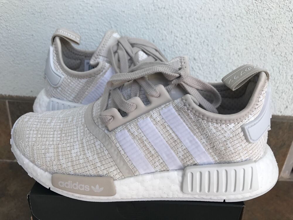 adidas nmd r 1 w cg2999 women size 6 10 beige tan cream authentic boost ebay. Black Bedroom Furniture Sets. Home Design Ideas