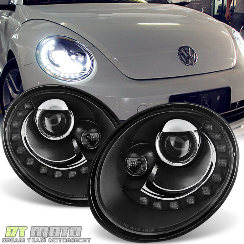 2006-2010 VW Beetle Projector Headlights w/DRL LED Running Light Pair Left+Right | eBay