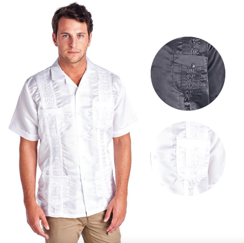 Guayabera Men 39 S Premium Cuban Beach Wedding Button Up