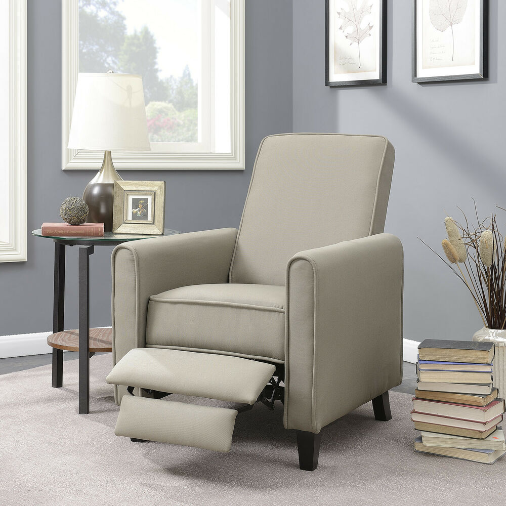 chairs for livingroom recliner club chair living room home modern design recline fabric gray beige ebay 5562