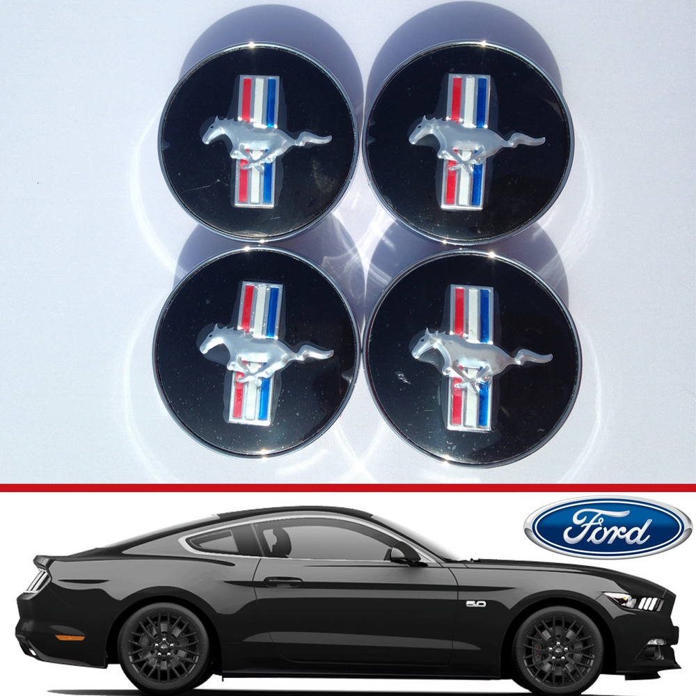 Ford Mustang Alloy Wheel Centre Hub Caps St Focus Fiesta