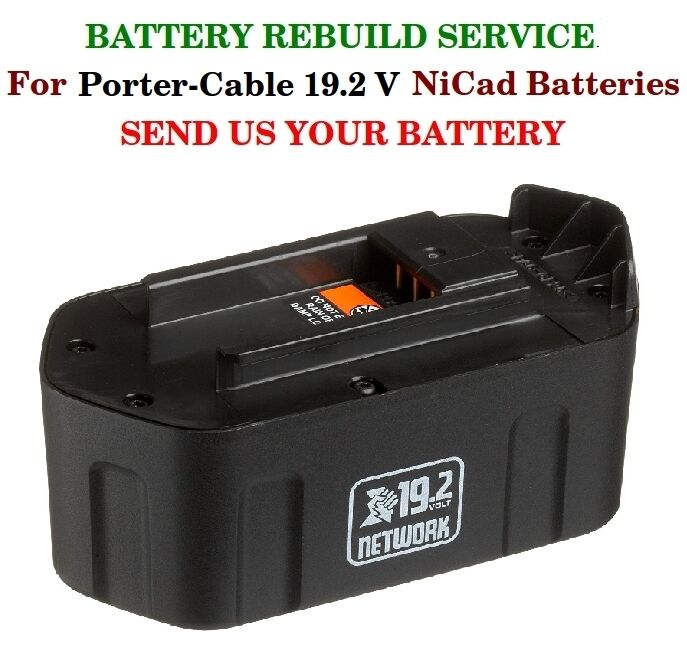 Battery Cable Service : Battery rebuild service porter cable v nicad