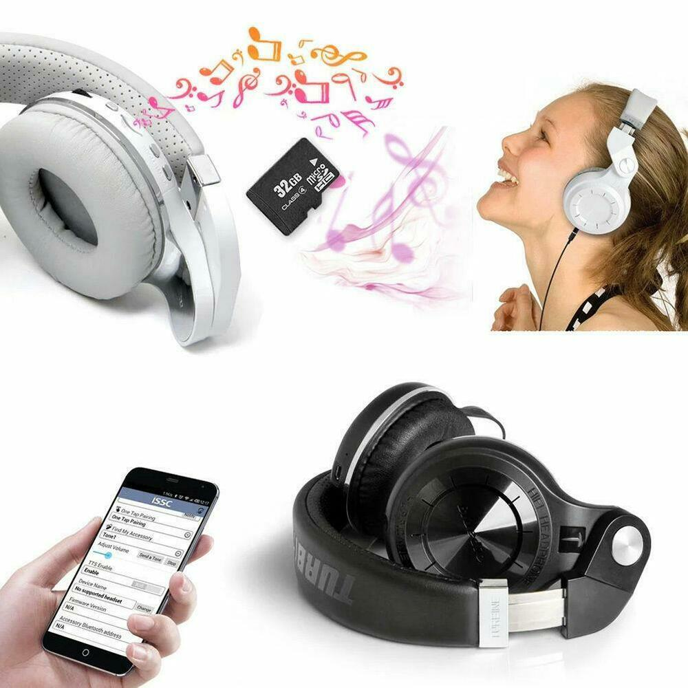 Bluedio T2 Bluetooth 4.1 Stereo Wireless Headset Headphone For IPhone Samsung LG