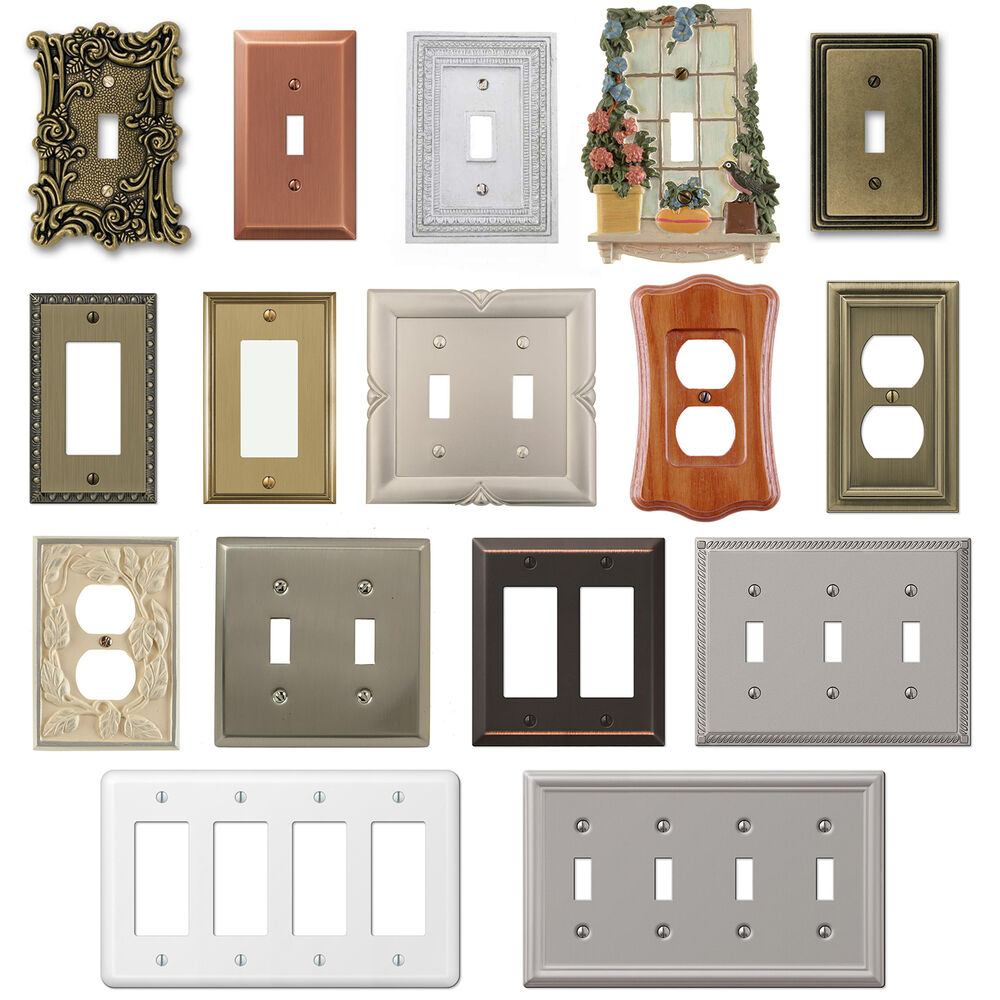Wall Switch Plate Cover Outlet Toggle Decora Rocker Duplex