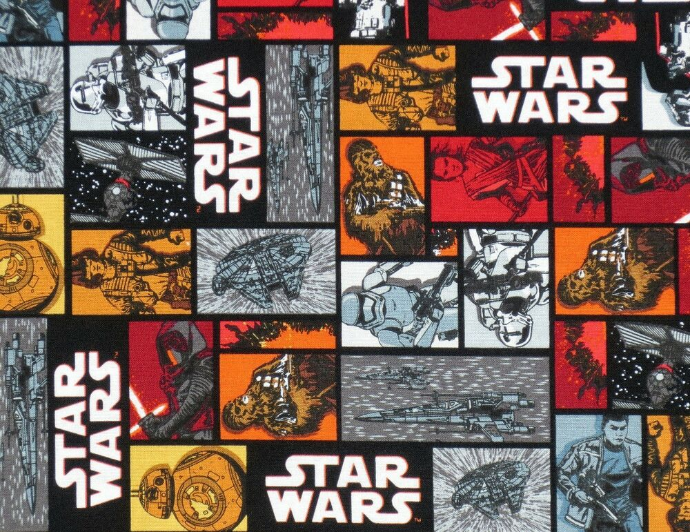Star wars 100 cotton camelot fabric chewbacca darth vader for Star wars fabric
