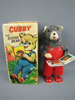 ALPS Cubby The Reading Bear Mechanical Toy Wind-Up