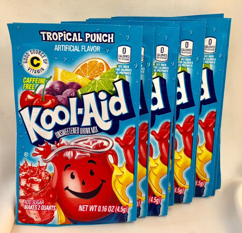 25 Tropical Punch Kool-Aid Drink Mix Gluten Free